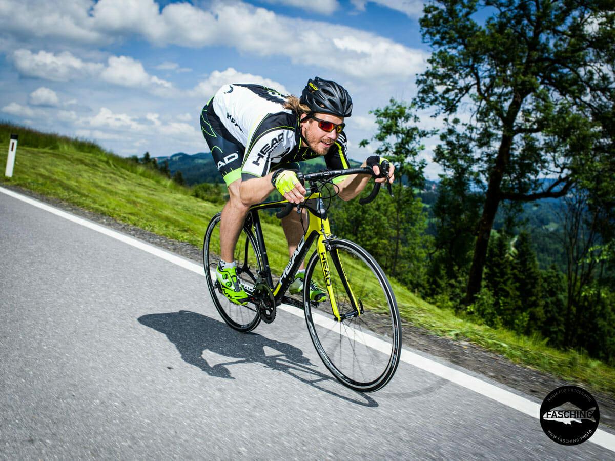 Kjetil Jansrud wurde von Luca und Reinhard Fasching für Head Bikes fotografiert