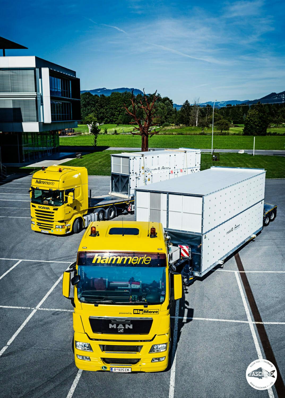 Luca Fasching fotografierte für Hämmerle Spezialtransporte ihre Mitarbeiter und Lastkraftfahrzeuge
