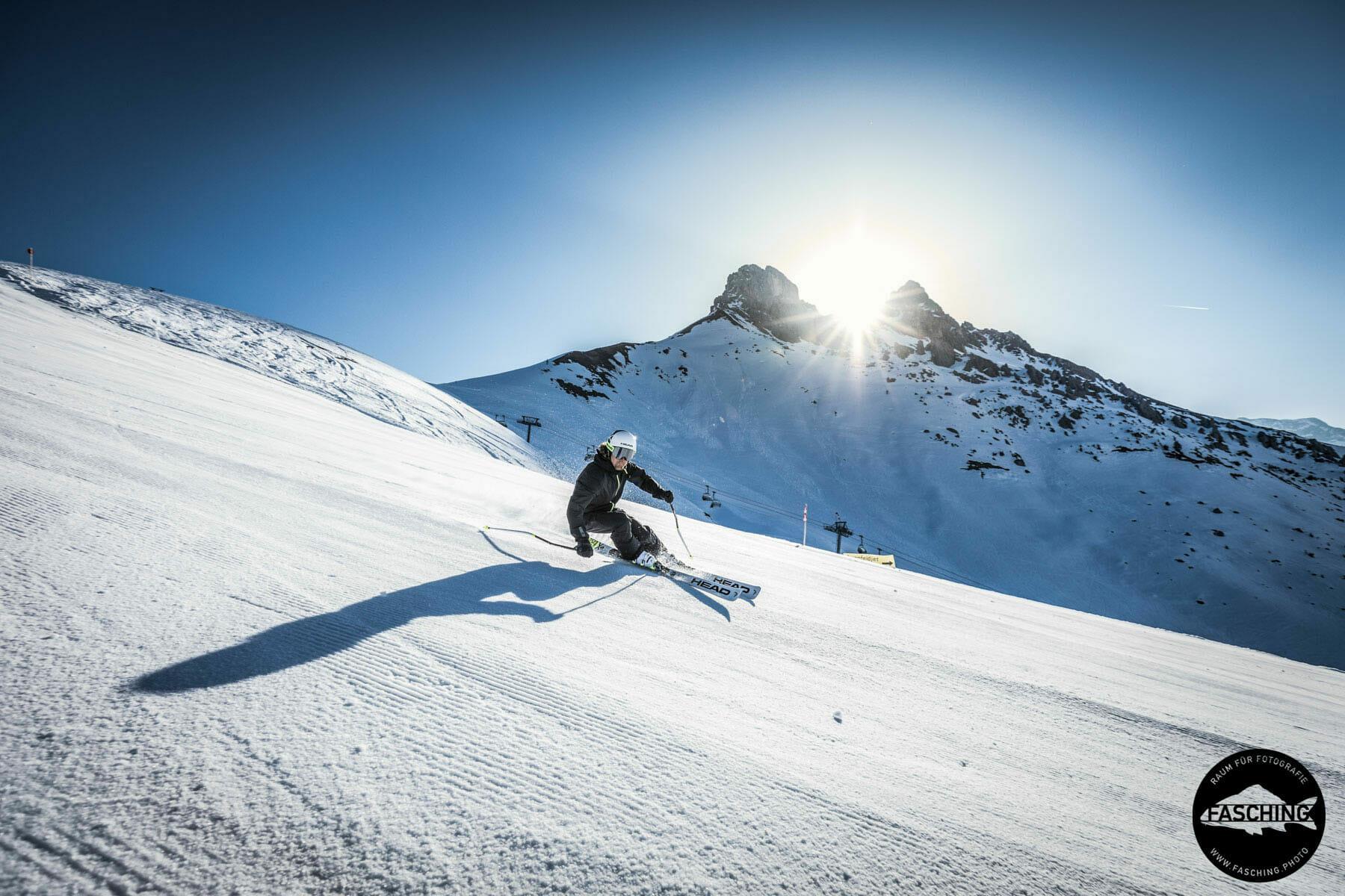 Tourismusfotos im Skigebiet fotografiert von Studio Fasching in Bregenz