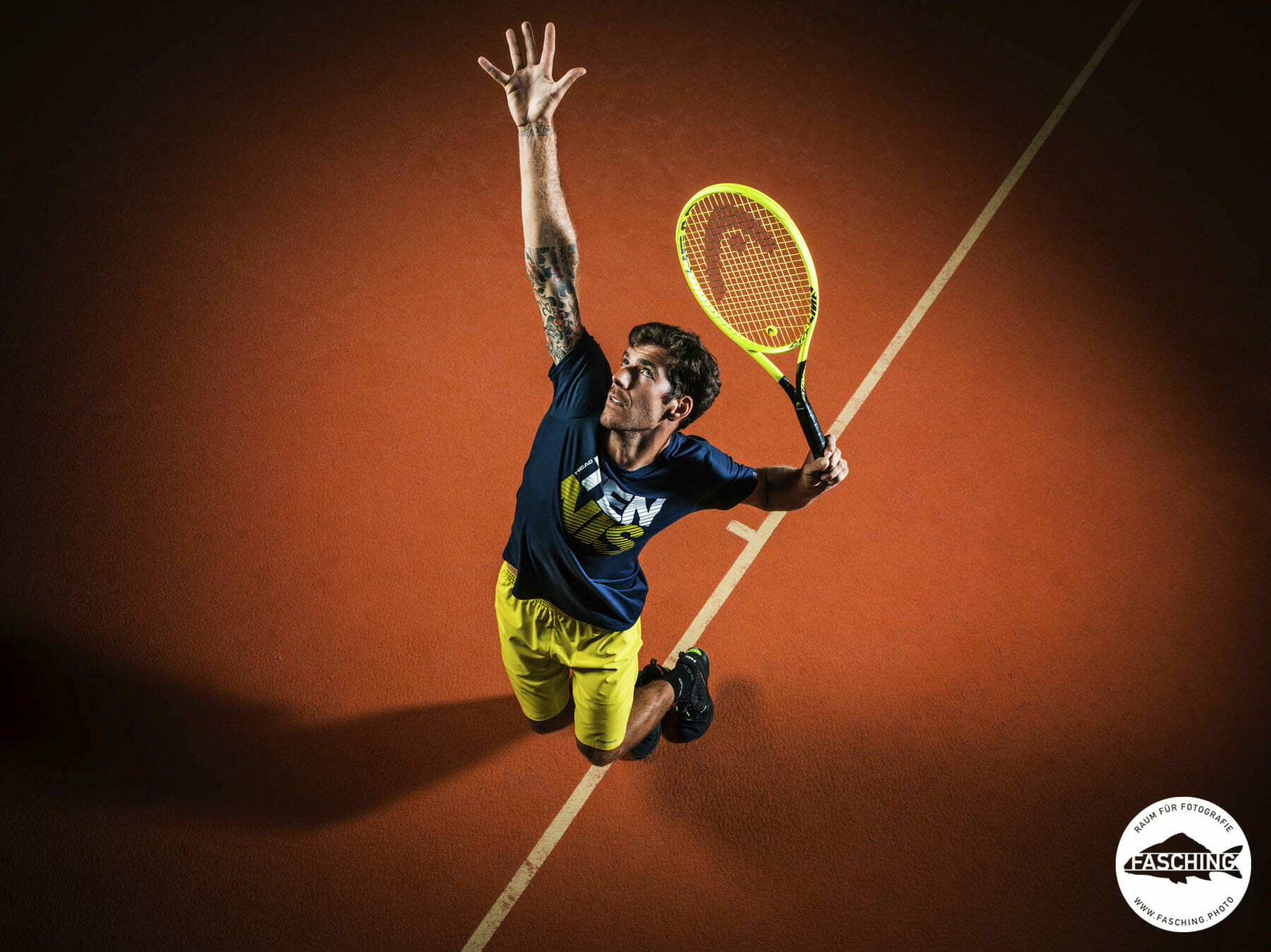 Gerald Melzer, HEAD Tennis Profi fotografiert von Luca Fasching