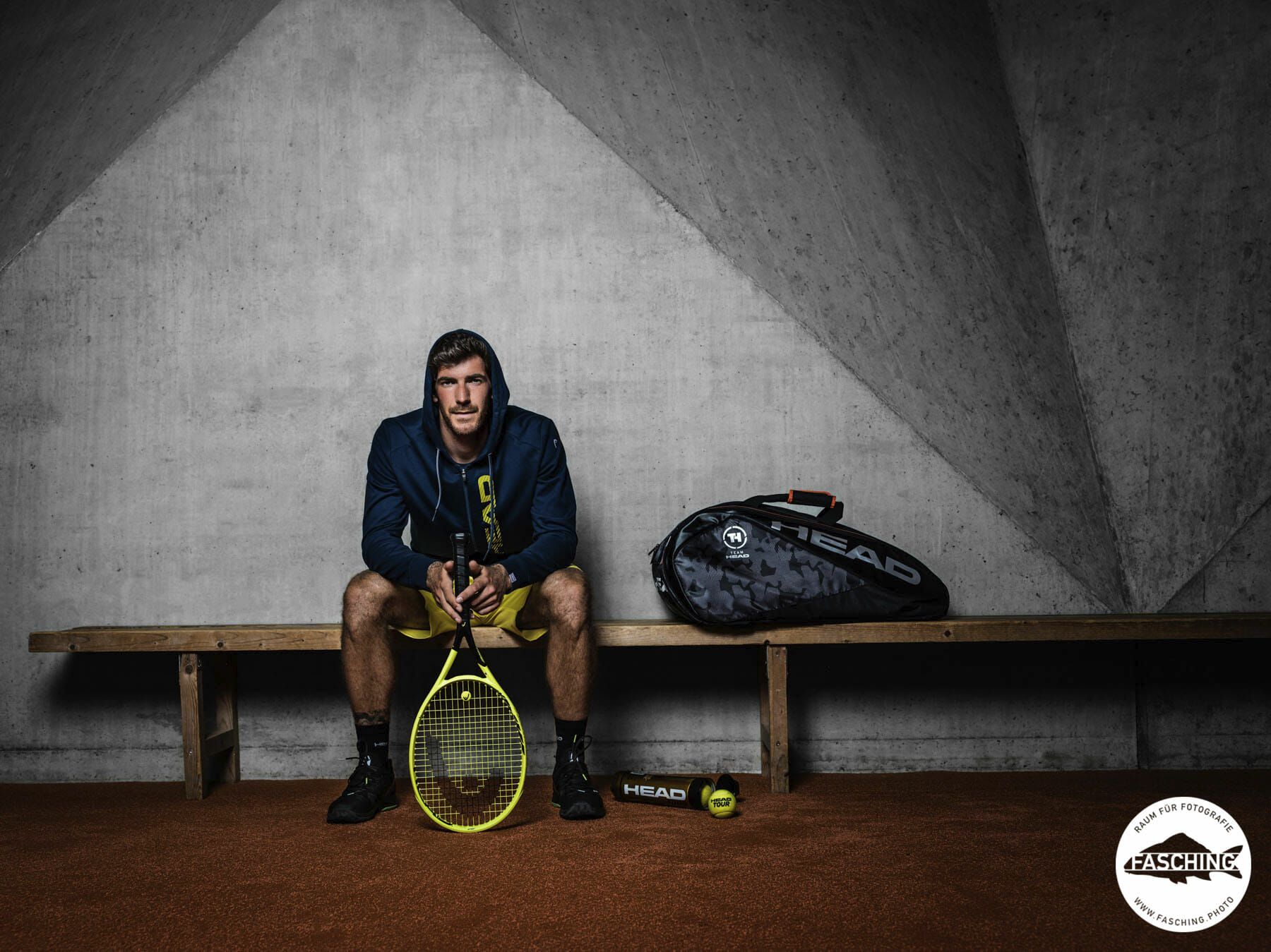 Portrait Gerald Melzer, Professional Tennis Head by Luca Fasching Austria