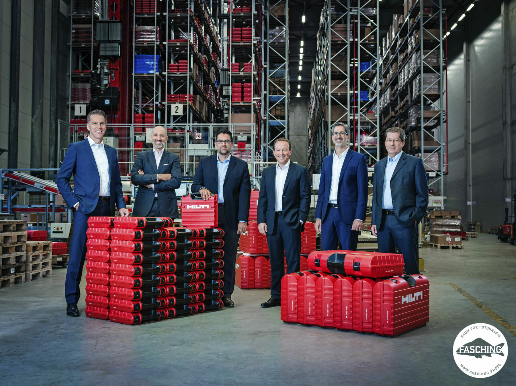 Unternehmensfotograf Reinhard Fasching schoss diese Businessportraits für den Geschäftsbericht der Hilti AG