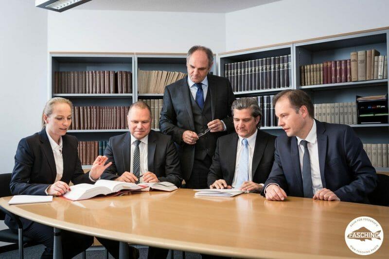 Die Businessportraits einer Anwalts-Kanzlei in Bregenz wurden von den Fotografen des Studio Fasching fotografiert