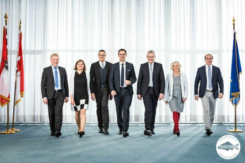 Fotograf Reinhard Fasching portraitierte die Landesregierung Vorarlberg, das Landtagspräsidium und das erweiterte Präsidium
