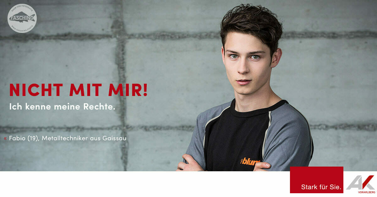 Luca Fasching, Werbefotograf aus Vorarlberg, fotografiert das Projekt