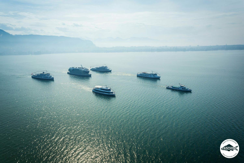 Reinhard Fasching schoss diese Drohnenbilder von den Vorarlberg Lines Schiffen