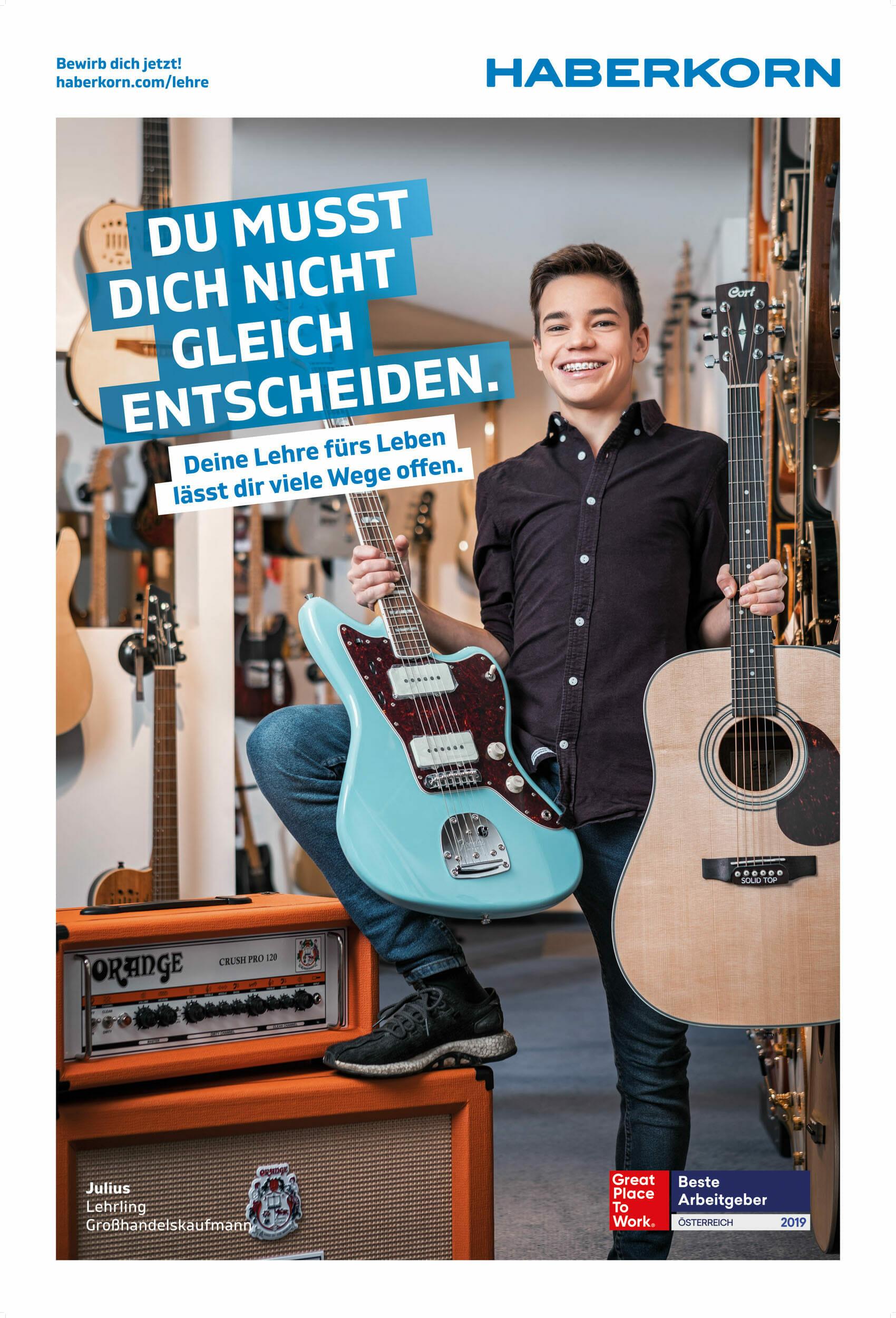 Industriefotografie für Haberkorn. Die Lehrlingskampagne wurde in ganz Vorarlberg gezeigt. Luca Fasching Industriefotograf