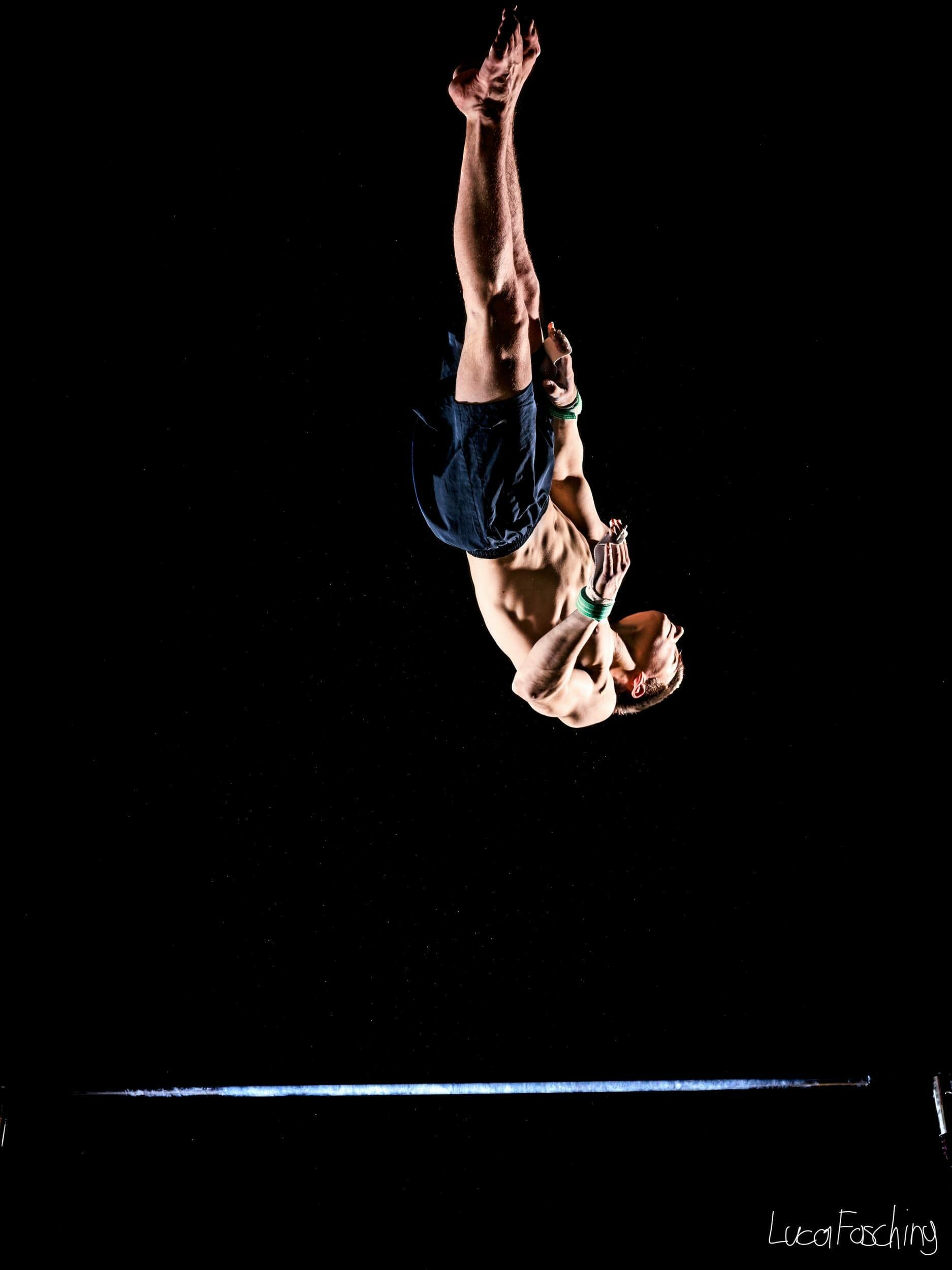 Sportaufnahmen der Turner von Luca Fasching