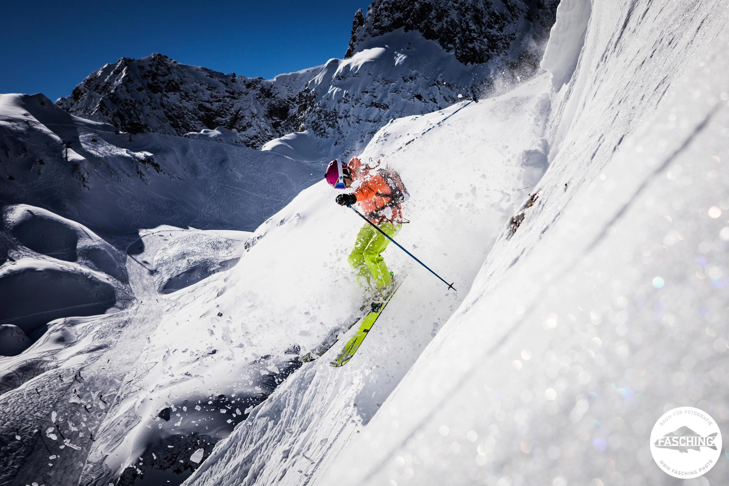 Skifotos und Tourismusfotos im Skigebiet Lech Zürs am Arlberg von Sportfotograf Luca Fasching