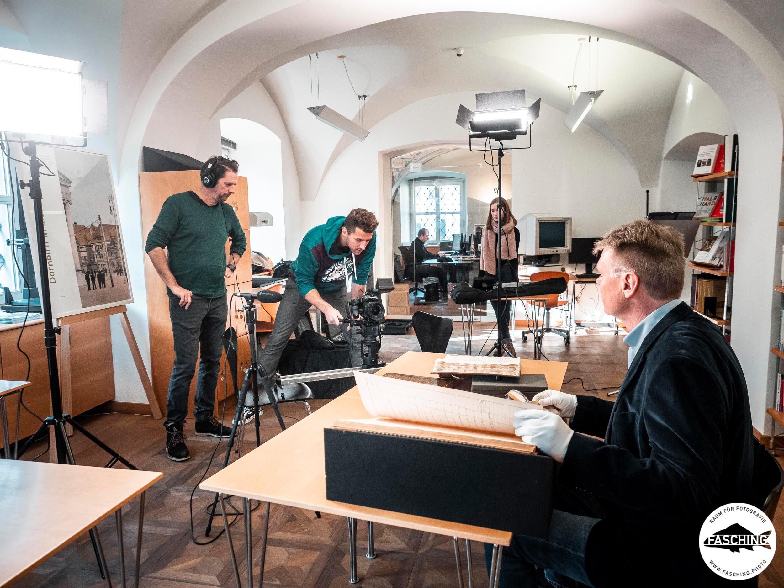 Videoproduktion für den Film Dornbirn 50000, Studio Fasching