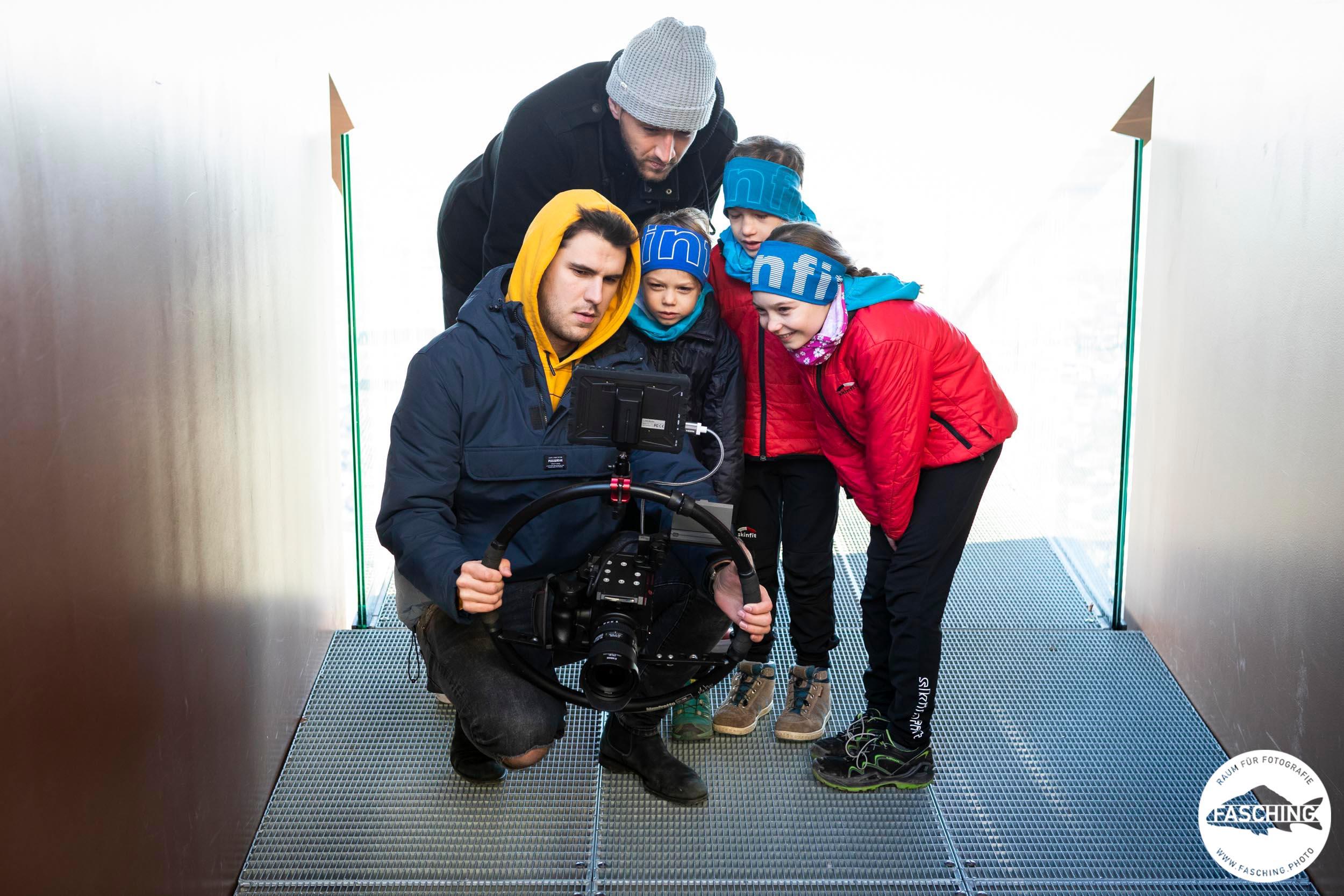 Luca Fasching bei einer Filmproduktion